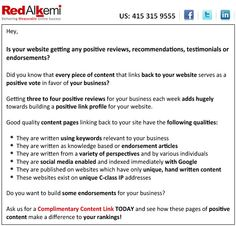 Complimentary Content Link  http://www.redalkemi.com/complimentary-content-link/