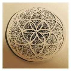Seed of Life Papercut + Dotwork Combo. #sacredgeometry #sacredgeomteryart #geometricart #dotwork #stippling #papercut #papercutting #paperart