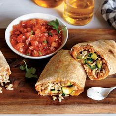 Zucchini and Bean Burritos - Great Freezer-Friendly Meals - Cooking Light