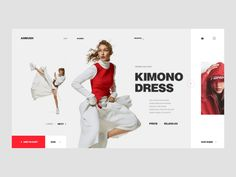 Fashion store designed by Eugen Savinov for Cleveroad. Connect with them on Dribbble; the global community for designers and creative professionals. Fashion Website Design, Fashion Store Design, Landing Page Inspiration, Web Design Inspiration, Banner Site, Web Grid, Sites Layout, Ppt Design, Graphic Design