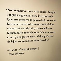 Mind of Brando - Cartas al tiempo
