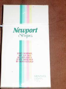Vintage 1980s Newport Stripes Cigarette Package | eBay