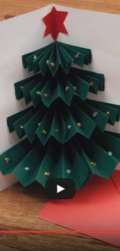 Une jolie carte de Noël simple à faire. http://rienquedugratuit.ca/videos/une-jolie-carte-de-noel-simple-a-faire/