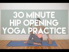 30 Minute Restorative Hip Opening Gentle Yoga Practice - YouTube