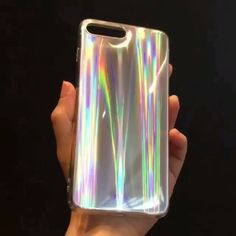 SELL !!!!! iPhone 8/7 Case and iPhone 7 Plus / 8 Plus, Rave Iridescent Psychedelic Holographic Cool Sparkle Bling Glitter Shiny Rainbow Designer Cover With Laser Pattern, [Extra Thin Soft TPU Protective Case] for 4.7/5.5 Inches iPhone