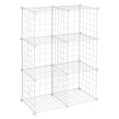 ClosetMaid Wire 6 Cube Organizer White - decorate and use for craft show display
