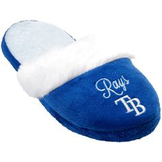 Tampa Bay Rays Women's Colorblock Fur Slide Slippers - $15.99