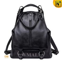 CWMALLS Womens Leather Convertible Backpack CW206203 Fashion Leather Convertible Backpack crafted from rich full grain cowhide leather, designer leather backpack features zip pocket on the front, adjustable leather straps, this designer bag can convertible to shoulder bag, handbag, backpack. www.cwmalls.com PayPal Available (Price: $257.89) Email:sales@cwmalls.com