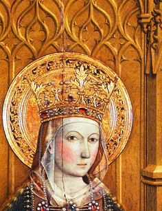Jaume Huguet. Detail from Virgin, 1450.