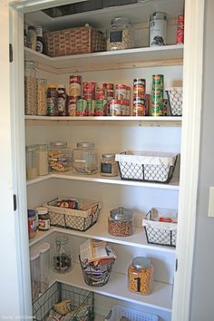 customize your own pantry makeover in a small closet - easy-to-follow instructions - and pictures!!!  I've been searching the professional builder sites  for diy instructions and this woman explains it better than the pros!!!                                                                                                                                                                                 More