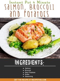 Welcome to my latest Instant Pot recipe and this recipe is for Instant Pot 4 minute salmon, broccoli and potatoes. This is the ultimate super healthy lunch and cooked in just 4 quick minutes. Over the last three days you've watched over my shoulder as I have first achieved steamed broccoli, then salmon and broccoli and finally delicious homemade new potatoes. Well today is the turn of all three together for the perfect lunch of salmon, potatoes and broccoli. In my mind they very much fall…