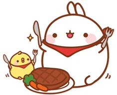 Dinner time with piu  piu  and molang ♡♡ check out my ultimate  board for more molang!