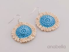Sunflower crochet earrings by Anabelia
