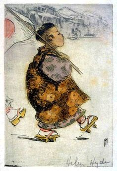 Etcher and Engraver Artist Helen Hyde (American: 1868 - - Marching as to War, 1904 Japanese Prints, Japanese Art, Gouache, Oriental, Geisha Art, Painter Artist, Country Paintings, Cool Art Drawings, China
