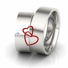Freundschaftsringe Silber mit geteilter Herz Gravur Silverrings split heart engraved