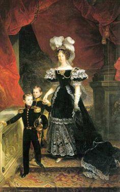 The Queen of Piedmont with her sons by FerdinandoCavalleri,1832