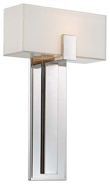 George Kovacs Mitered Glass 10 Polished Nickel Wall Sconce - contemporary - wall sconces - Euro Style Lighting