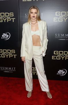 Abbey Lee Proves You Can Wear a Crop Top to Literally Any Occasion