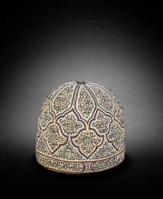 An embroidered felt Dervish Hat Persia, Century Historical Hairstyles, Persian Motifs, Persian Culture, Iranian Art, China Fashion, Women's Fashion, Embroidered Hats, Folk Costume, Tribal Jewelry