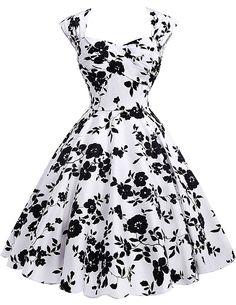 Audrey Hepburn Vestidos Cotton Floral Print Vintage 50s Dresses Women Robe Rockabilly Pin Up Dress BP000024 Alternative Measures
