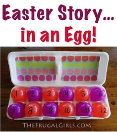 The Easter Story {Craft}… in an Egg! {such a FUN way to share the Easter story!} ~ at TheFrugalGirls.com #easter #eggs #crafts