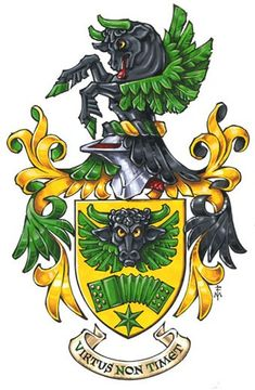 Flying Bull Coat of Arms Marco Foppoli, Heraldic Artist… History And Heraldry, Medieval Shields, Early Modern Period, Knight Art, Plantagenet, Mystery Of History, Family Crest, Crests, Coat Of Arms