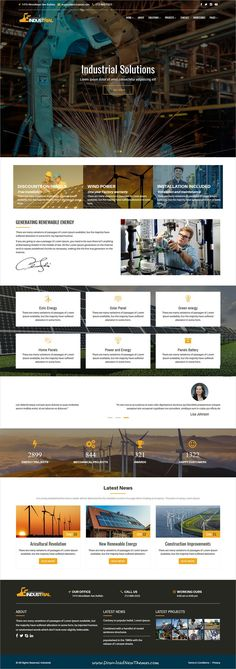 Industrial is clean and modern design 6in1 responsive #HTML5 bootstrap template for #industrial and #factory solutions website to live preview & download click on Visit