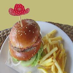 DYI western party food picks free printables and ideas.