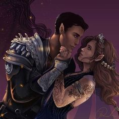 Resultado de imagem para feyre and rhysand throne of glass series, a court A Court Of Wings And Ruin, A Court Of Mist And Fury, Book Characters, Fantasy Characters, Feyre And Rhysand, Fanart, Sarah J Maas Books, Throne Of Glass Series, Crescent City