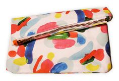 Hand painted clutch by Kinda Khalidy. #coloreveryday