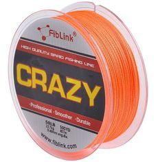 Fiblink® 4 Strand Braid Braided Fishing Line Orange 300 yards 500yards 10lb-80 lb Test PE Fish Line ** See this great product.