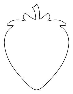 Strawberry pattern. Use the printable outline for crafts, creating stencils, scrapbooking, and more. Free PDF template to download and print at http://patternuniverse.com/download/strawberry-pattern/