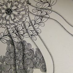 The Bright Owl: Zendala Dare - As basic as it gets Mandala Doodle, Tangle Doodle, Tangle Art, Doodles Zentangles, Zen Doodle, Doodle Art, Doodle Patterns, Zentangle Patterns, Inspirational Artwork