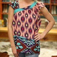 MM Couture by miss me Aztec top size M What a gorgeous and fun top! Size Medium, excellent condition! Tops Tank Tops