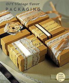 Vintage Wedding Favors - DIY Vintage Favor Packaging