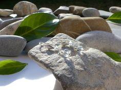 Dormeuses en perles de cristal de roche, boucles d'oreilles chics, boucles d'oreilles cristal de roche : Boucles d'oreille par lapassiondisabelle