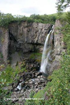 The first waterfall we saw on the Svartifoss hike was the impressive Hundafoss, Skaftafell National Park, East Region, Iceland Basalt Columns, Iceland Waterfalls, Amazing Nature, Natural Beauty, National Parks, Hiking, Ocean, World, Places