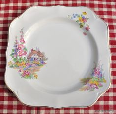 Square shape Johnson Bros Pareek Vintage Cake Plate