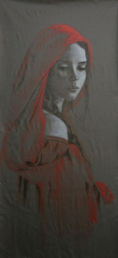 "Oil painting by Céleste Galrao, ""Gloria"" by SoBlue"