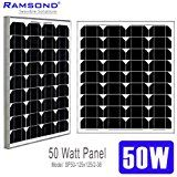 Cheap Ramsond 50 Watt Solar Panel 50w W Monocrystalline Photovoltaic PV Solar Panel Module 12V Battery Charging Charger deals week