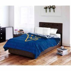 Ncaa West Virginia Mountaineers Twin/Full Bedding Comforter, Blue
