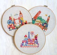 London, Paris, Italy - 3 modern cross stitch patterns - 15 Dollars - Instant Download on Etsy, $15.00 ----bought these
