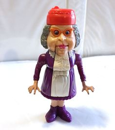 1988 GRANNY GROSS GHOST • HAUNTED HUMANS • C8-9 • VINTAGE THE REAL GHOSTBUSTERS #Kenner
