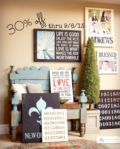 Customize your own personalized canvas with pictures, texts or any other designs.