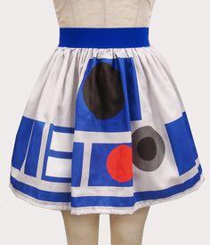 Printed R2 D2 Inspired Skirt by GoChaseRabbits on Etsy, $54.99