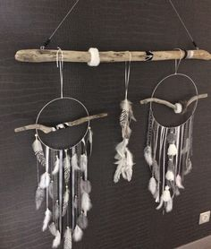 attrape r ves dreamcatcher mobile avec bois flott perles coquillages toile de mer. Black Bedroom Furniture Sets. Home Design Ideas