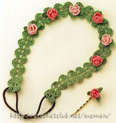 Crochet Headband and Clip • Chart is provided.