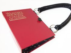 Book Purse Websters New World College Dictionary Book Purse Red Handbag