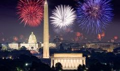 Every summer, fourth of July fireworks splash the sky with reds, whites and blues above the Lincoln Memorial, Washington Monument and U.S. Capitol.