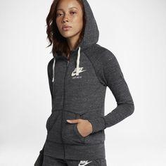 0703b90abf7 Nike Sportswear Gym Vintage Women's Full-Zip Hoodie Size XL (Anthracite)